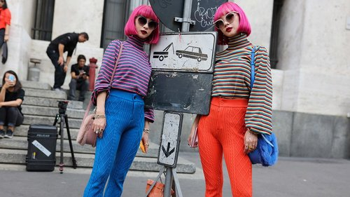 It's Electric! How to Pull Off Shocking Color Like Milan's Street Style Standouts