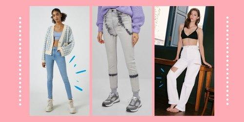 8 Celana High Waist Jeans Trendi di Bawah Rp 500ribu