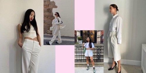 8 Inspirasi Padu Padan Baju Putih Dari Fashion Influencer