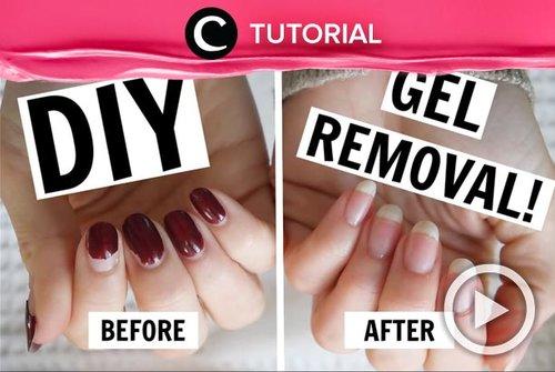 Mengangkat kutek gel tak harus di salon, kok. Kamu bisa intip triknya di: http://bit.ly/34tVwrw. Video ini di-share kembali oleh Clozetter @dintjess. Lihat juga tutorial lainnya di Tutorial Section.