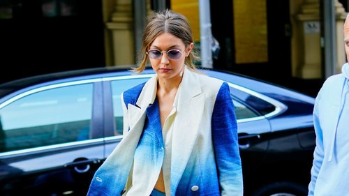 Gigi Hadid Gives the Suit a Groovy Twist