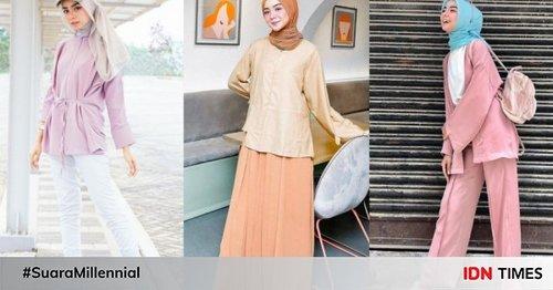 10 Gaya Hijab Minimalis ala Nesa Aqila, Cute Pakai Warna Pastel!