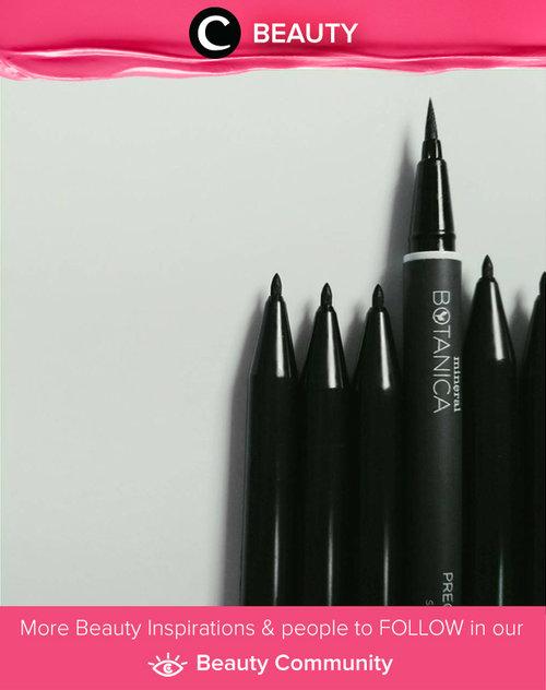 Ada satu lagi nih eyeliner bentuk spidol dari brand lokal, Mineral Botanica yang precise, waterproof, dan smudgeproof. Simak Beauty Updates ala clozetters lainnya hari ini di Beauty Community. Image shared by Clozetter: @annisapertiwi. Yuk, share beauty product andalan kamu.