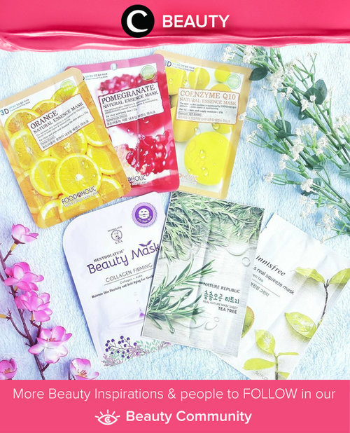 Current obsession: mask sheet. What's yours? Simak Beauty Updates ala clozetters lainnya hari ini di Beauty Community. Image shared by Clozetter: @saycintya. Yuk, share beauty product andalan kamu.