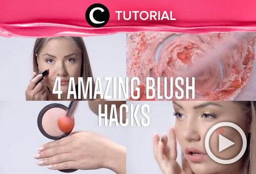 4 amazing blush hacks you should know: https://bit.ly/2xLFjCm. Video ini di-share kembali oleh Clozetter @dintjess. Lihat juga tutorial lainnya di Tutorial Section.