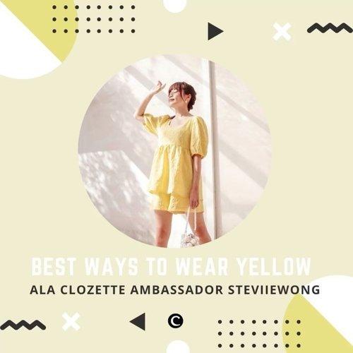 Brighten up your day with yellow outfit!💛 Warna kuning memang merupakan warna cerah yang tak jarang memiliki kontras yang tinggi, karena itulah beberapa orang agak kebingungan untuk memadupadankan outfit berwarna kuning dengan warna lainnya. Dapat membuat tampilan kamu terlihat fresh dan playful, yuk intip beberapa outfit ideas ala Clozette Ambassador @steviiewong dengan outfit kuningnya, siapa tahu bisa jadi inspirasi kamu untuk padu padan tampilan harianmu✨ . 📷 @steviiewong  #ClozetteID #ClozetteIDVideo #yellowoutfit