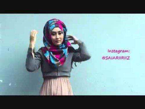 Hijab Tutorial Pashmina Kashmir #1 - YouTube