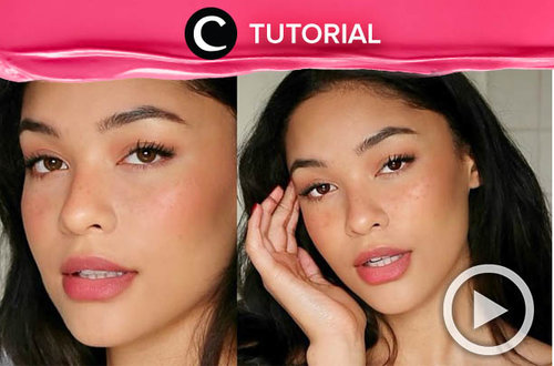 "Make your own sunkissed ""no makeup"" makeup look with this tutorial: http://bit.ly/31W50uY. Video ini di-share kembali oleh Clozetter @salsawibowo. Lihat juga tutorial lainnya di Tutorial Section."