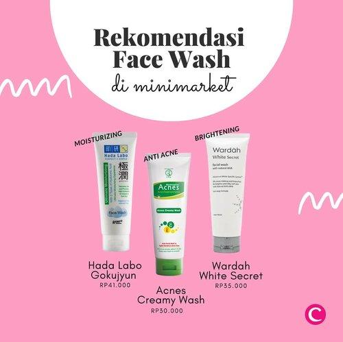 Stok pembersih wajah mulai menipis selama #socialdistancing? Tenang, kamu bisa mampir ke minimarket terdekat dan coba rekomendasi face wash berikut sesuai kebutuhan kulit kamu. . #ClozetteID #ClozetteIDXCoolJapan #ClozetteXCoolJapan #HadaLabo #Acnes #Wardah #FaceWash #FacialFoam