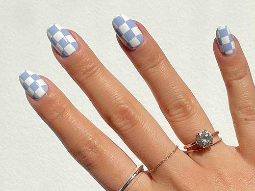 Checkered Nail Art Looks Summer 2021