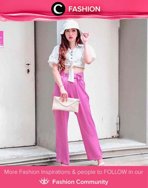 Show your unique personality with your fashion choices, like Clozetter @cecilliacornelius with her bright pink pants. Simak Fashion Update ala clozetters lainnya hari ini di Fashion Community. Yuk, share outfit favorit kamu bersama Clozette.