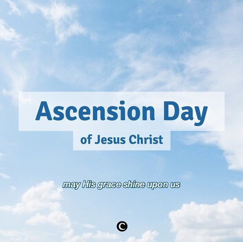 Happy Ascension Day of Jesus Christ, Clozetters! God bless you and your loved one💙 #ClozetteID