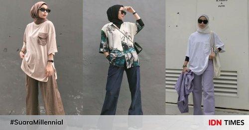 7 Inspirasi Padu Padan Oversized ala Selebgram Hijab