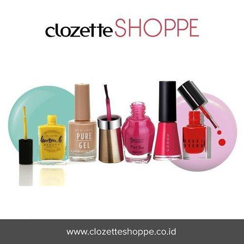 Belanja nail polish favorit di bawah 160 ribu dari berbagai ecommerce site Indonesia via #ClozetteSHOPPE. Simak juga tutorial beauty nail art yang bisa kamu praktekkan di rumah dari #ClozetteID!  http://bit.ly/1Yp1iUa . . . #nailpolish #nail #nailsart #nailsticker #nailpolishes #nails