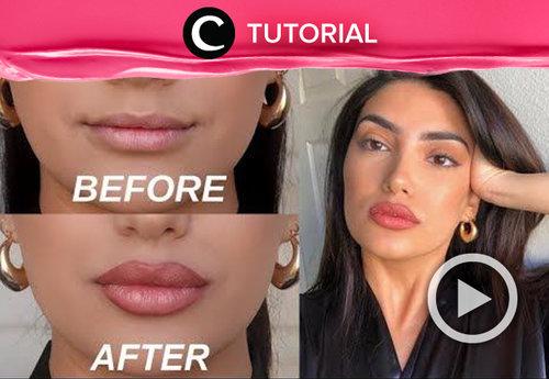 It is possible to get full lips without filler! Try this trick at home: https://bit.ly/2YDrL6A. Video ini di-share kembali oleh Clozetter @ranialda. Lihat juga tutorial lainnya yang ada di Tutorial Section.