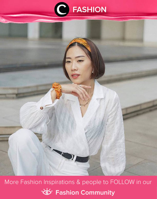 Another white on white look by Clozette Ambassador @janejaneveroo. Ps: we love the orange hint as the accessory! Simak Fashion Update ala clozetters lainnya hari ini di Fashion Community. Yuk, share outfit favorit kamu bersama Clozette.