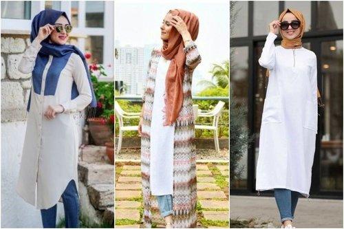 8 Padu Padan Tunik Putih Dan Celana Jeans Tanpa Beli Baru