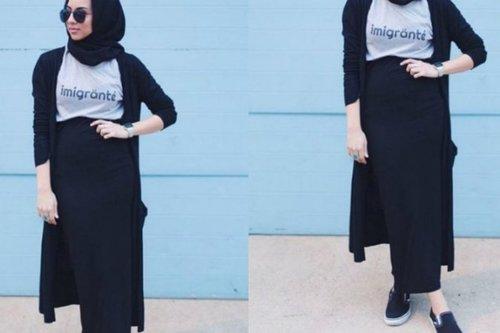Ide Memadukan Busana Hijab dengan Rok Pensil