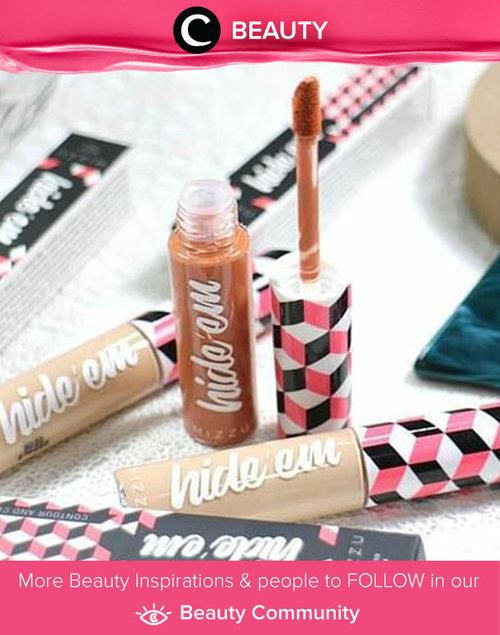 "<div class=""photoCaption"">Affordable with good formula, Mizzu Hide 'Em concealers are great for your daily use. Simak Beauty Update ala clozetters lainnya hari ini di Beauty Community. Image shared by Clozetter @blossomshine. Yuk, share juga beauty product favoritmu bersama Clozette.</div>"