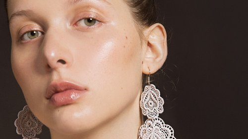 Behnaz Sarafpour's Embroidered Earrings Are a Delicate Twist on Statement Jewelry