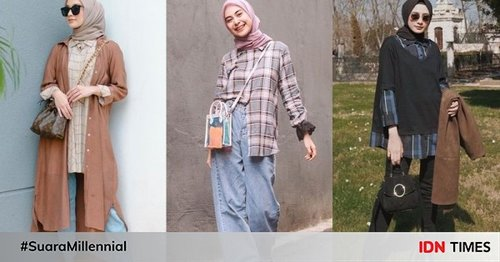 Upgrade Style Hijab Kamu dengan Padu Padan Kemeja Flanel, Kasual Kece!