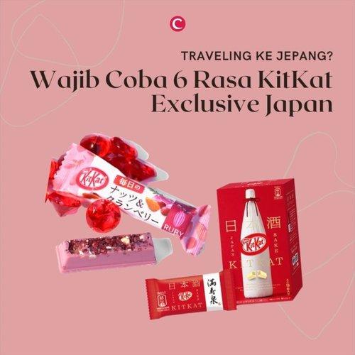 Fun fact: di Jepang, ada sekitar 300 varian rasa KitKat, lho! Snack ini juga sering digunakan sebagai good luck gifts oleh orang Jepang dan biasanya setiap daerah punya jenis KitKat yang berbeda sesuai ciri khas masing-masing. Tapi, Clozette punya rekomendasi 5 rasa yang wajib banget kamu coba ketika sedang traveling ke Jepang. Check it, out!.Share juga yuk rasa KitKat favorit kamu?.@kitkat_id @kitkat_japan_official#ClozetteID #ClozetteIDVideo #ClozetteXCoolJapan #ClozetteIDCoolJapan