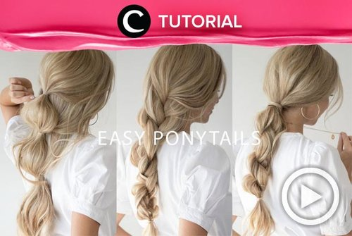 This braided ponytail is perfect for your everyday hairstyle: http://bit.ly/2KrMpzD. Video ini di-share kembali oleh Clozetter @saniaalatas. Lihat juga tutorial lainnya di Tutorial Section.