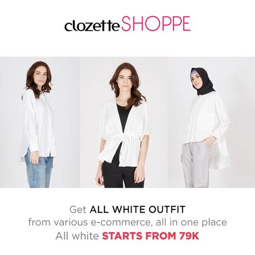 Memakai outfit serba putih akan membuatmu terlihat lebih muda, segar, dan tampak memukau. Belanja outfit serba putih dari berbagai e-commerce site MULAI DARI 79K di #ClozetteSHOPPE!   http://bit.ly/whitefashion