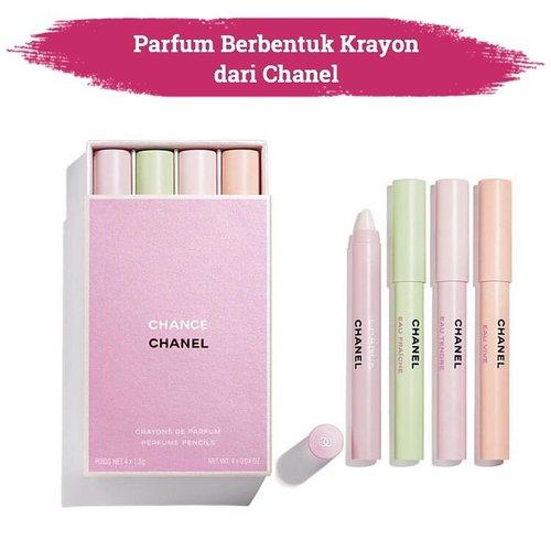 Lipstik berbentuk krayon? Sudah biasa, tapi bagaimana kalau parfum berbentuk krayon? Chanel beauty belum lama ini mengeluarkan Chance Fragrance, parfum unik berbentuk krayon yang travel friendly dan praktis untuk digunakan✨.📷 @chanel.beauty #ClozetteID #Chanel #ChanceChanel