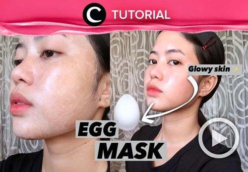 Pasti kamu nggak menyangka kalau telur bisa menjadikan kulit wajah tampak lebih glowing. Coba lihat selengkapnya di: https://bit.ly/2SnUU5V. Video ini di-share kembali oleh Clozetter @kyriaa. Lihat juga tutorial lainnya di Tutorial Section.