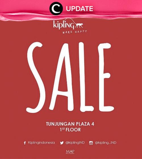 Great deal at Kipling Mid Season Sale! Segera kunjungi store Kipling Tunjungan Plaza 4 lanta 1 untuk informasi lebih lanjut. Promo ini berlaku hingga 31 Oktober 2016. Jangan lewatkan info seputar acara dan promo dari brand/store lainnya di Updates section.