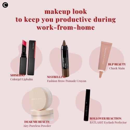 Work from home day........*lost counting*😛 hari keberapa pun kamu WFH sekarang, semoga kamu tetap produktif melakukan segala kegiatanmu, ya! Salah satu kunci untuk tetap produktif saat wfh adalah dengan berpenampilan bagaimana selayaknya kamu ke kantor. Menggunakan makeup juga bisa mendorong semangatmu bekerja dari rumah, lho! Mumpung #dirumahaja kamu bisa menggunakan make up yang simple saja seperti rekomendasi dari Clozette berikut ini✨.#ClozetteID #ClozetteIDCoolJapan #ClozetteXCoolJapan