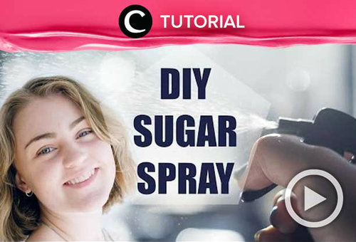 Hair spray ini mampu mempercantik rambutmu, lho. Lihat cara membuatnya di: http://bit.ly/2XObYi6. Video ini di-share kembali oleh Clozetter @saniaalatas. Lihat juga video tutorial lainnya di Tutorial Section.