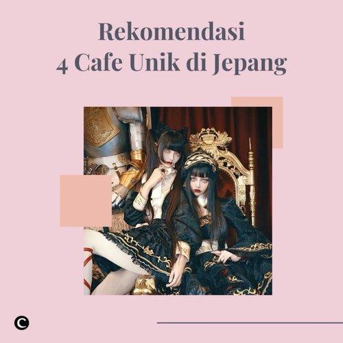 Jepang dikenal mempunyai banyak tempat unik yang bahkan nggak terpikirkan sebelumnya, di antaranya adalah cafe-cafe bertema unik yang menyenangkan untuk dikunjungi. Yuk, intip rekomendasi 4 cafe unik di Negara Sakura ini yang bisa kamu kunjungi saat berlibur ke Jepang!✨Baca selengkapnya melalui artikel berikut bit.ly/ClzCafeUnikJepang (LINK ON BIO)#ClozetteID #ClozetteXCoolJapan #ClozetteIDCoolJapan