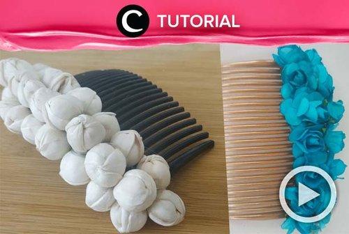 Daripada pre-order Bridal hair comb dari luar negeri, lebih baik buat sendiri. Intip caranya di: http://bit.ly/2nA1XJa. Video ini di-share kembali oleh Clozetter @saniaalatas. Lihat juga tutorial lainnya di Tutorial Section.