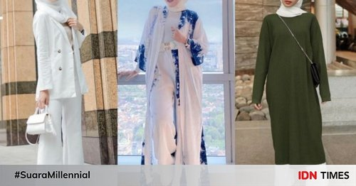 10 Inspirasi OOTD Pakai Hijab Putih, Adem Banget Lihatnya!