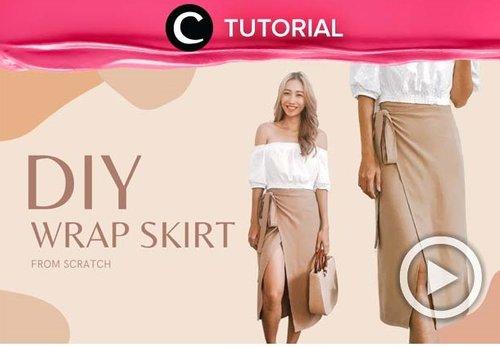 Make your own wrap skirt at home! Check the tutorial here: https://bit.ly/3rkQQAk. Video ini di-share kembali oleh Clozetter @kamiliasari. Lihat juga tutorial lainnya di Tutorial Section.