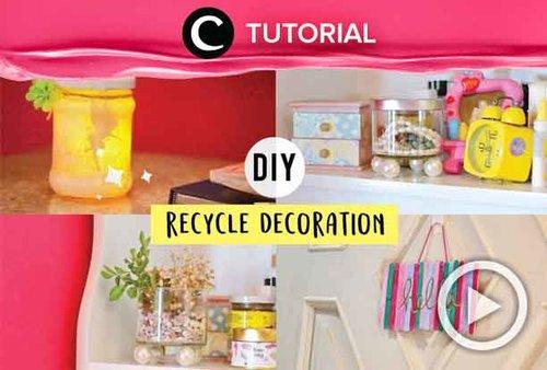 Gunakan barang-barang tak terpakai untuk dekorasi kamarmu, yuk! Lihat caranya di: http://bit.ly/2Z7LEQO. Video ini di-share kembali oleh Clozetter @ranialda. Cek juga tutorial updates lainnya di Tutorial Section.