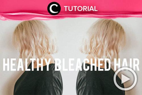 Merawat rambut yang sudah di-bleaching memang tak mudah. Coba intip tips dan triknya di: https://bit.ly/2Vg5jOl. Video ini di-share kembali oleh Clozetter @kamiliasari. Lihat juga tutorial updates lainnya di Tutorial Section.
