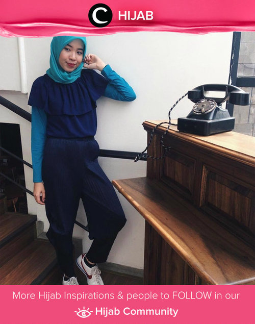 When hijab meets the off shoulder top. Simak inspirasi gaya Hijab dari para Clozetters hari ini di Hijab Community. Image shared by Clozetter: @tifanydheanisa. Yuk, share juga gaya hijab andalan kamu