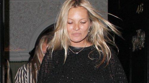Kate Moss Has Just the Right Styling Trick to Transform a Little Black Dress