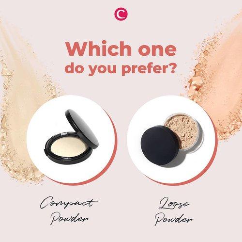 Apa kuncian tampilan makeup flawless ala kamu?👀mungkin akan banyak yang menjawab kalau powder adalah kuncian terpenting untuk mendapatkan hasil makeup yang flawless sepanjang hari. Tapi, tentunya tiap orang akan berbeda sesuai kebutuhan dan kesukaannya. Kalau kamu, lebih memilih compact powder atau loose powder? Tulis jawabanmu di kolom komentar ya, Clozetters! #ClozetteID