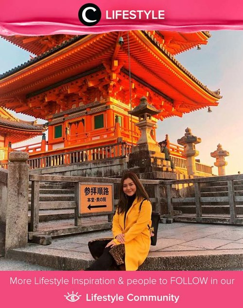 Going to Japan very soon? Don't forget to add Kiyomizudera Temple on your list if you're visiting Kyoto! Simak Lifestyle Updates ala clozetters lainnya hari ini di Lifestyle Community. Yuk, share juga momen favoritmu. Image shared by Clozetter @vienesca.