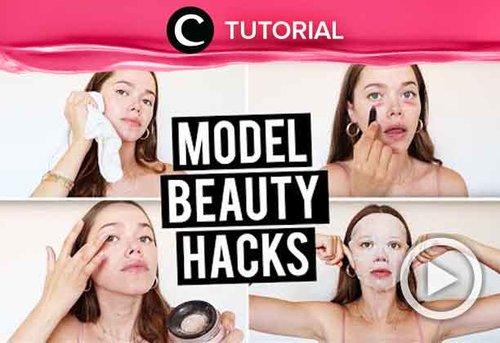 Ternyata seperti ini beauty hacks yang sering diterapkan para model. Intip selengkapnya di: http://bit.ly/2YMscwX. Video ini di-share kembali oleh Clozetter @aquagurl. Lihat juga tutorial lainnya di Tutorial Section.