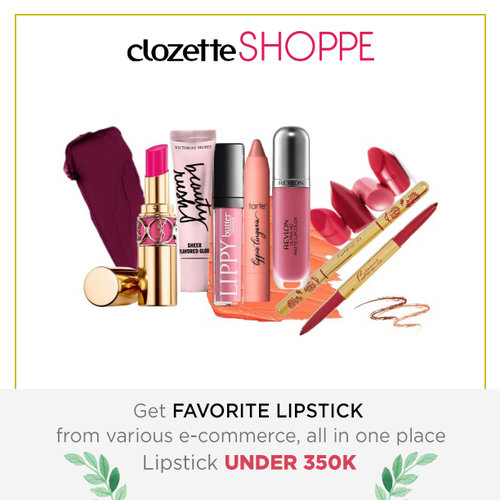 Girls never say enough for a new lipstick, either bold or nude color. Agree? Shop your favorite lipstick UNDER 350K from various ecommerce site only at #ClozetteSHOPPE! http://bit.ly/shopnewlipstick