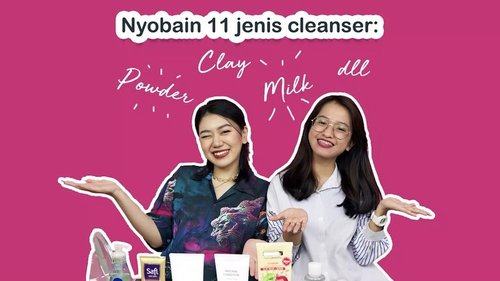 GIVEAWAY ALERTSadar nggak kalau sekarang pembersih wajah itu semakin banyak jenisnya. Kalau dulu mungkin kita familiar dengan cleansing milk dan face toner, atau facial foam. Sekarang, sudah ada inovasi facial wipes, cleansing balm, sampai produk hybrid mask to cleanser. Kalau kamu bingung menentukan pembersih wajah yang cocok untuk kulit kamu, cek tips dari @nisca_ & @cyndaadissa di video berikut, yuk http://bit.ly/11JenisCleanser (link di bio)Psst, ada hadiah menarik senilai 200.000 rupiah untuk masing-masing 5 orang pemenang! Cek info giveaway di description box video YouTube ya.Good luck!#ClozetteID #CIDYoutube #FaceCleanser #MicellarWater #CleansingBalm #ProdukLokal #BrandLokal #LocalBrand #giveaway