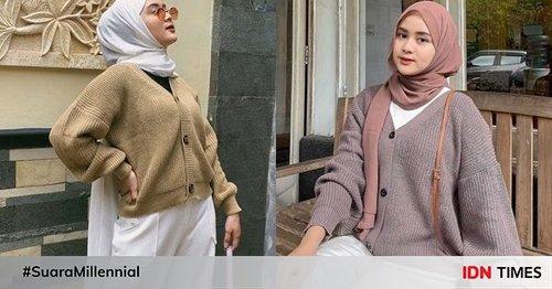 10 Outfit Hijab Kasual ala Selebgram Alifhia Fitri
