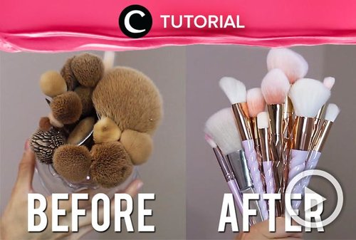 No more dirty makeup brushes! Cuci dengan cara: http://bit.ly/32wjgcH. Video ini di-share kembali oleh Clozetter @shafirasyahnaz. Lihat juga tutorial updates lainnya di Tutorial Section.