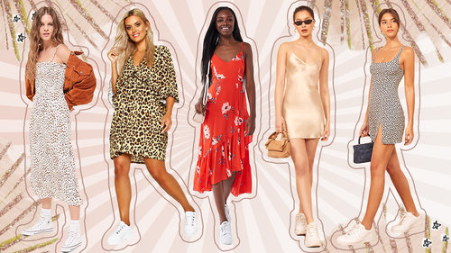 10 Fool-Proof Sneaker + Dress Combo Templates To Copy