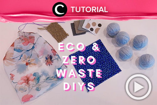 Start your zero-waste life by making these DIYs: https://bit.ly/38jGh9s. Video ini di-share kembali oleh Clozetter @ranialda. Lihat juga tutorial lainnya di Tutorial Section.